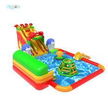Newest design pvc inflatable water park with customized for sport games use