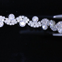 10 Yards Clear Crystal Rhinestone Trim Silver Gold Wedding Dress Clothes Diamond Chain For Wedding Invitations