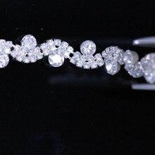 10 Yards Clear Crystal Rhinestone Trim Silver Gold Wedding Dress Clothes Diamond Chain For Invitations