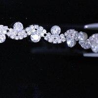 10Yards Clear Rhinestone Trim Crystal Silver Gold Rhinestones Wedding Dress Clothes Diamond Chain For Wedding Invitations