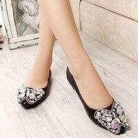 Señoras baratos tamaño más grande 10 mariposa Venta caliente rhinestones peep toe tacones cuadrados bajos mujeres Bombas conducción Zapatos negro/ plata
