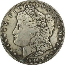 S 1894 Соединенные Штаты Морган 1 доллар фотокопия монета