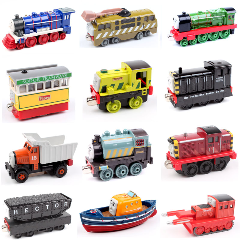 Thomas and friends trains steam a engine the tank carriage diesel railway magnetic Locomotive diecast tomas models toys for boys 3d dynamic models of a railway track for high speed trains