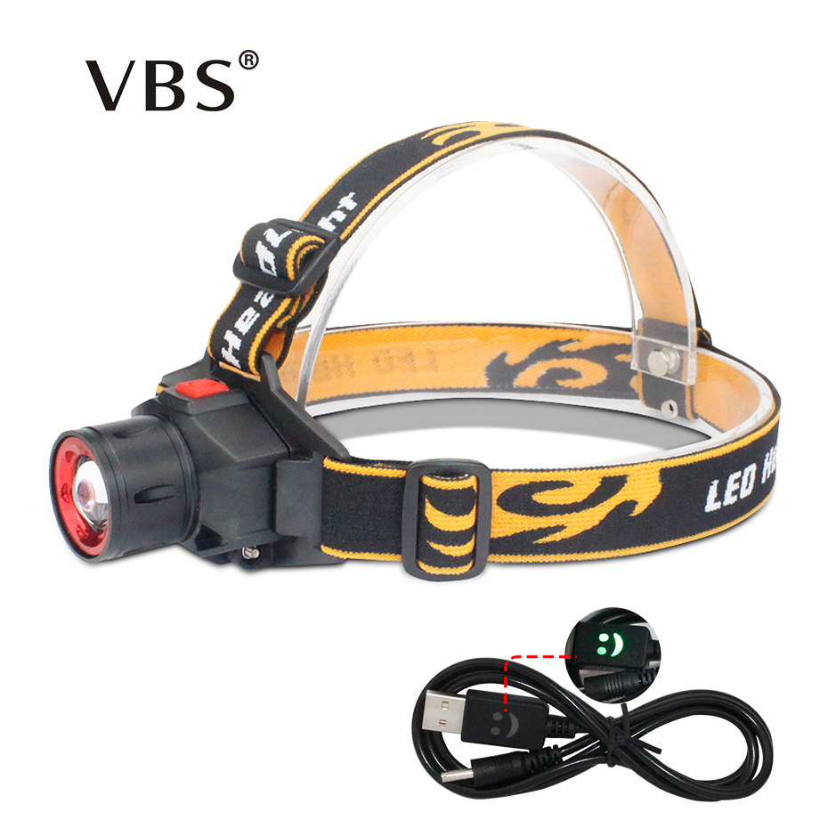 Headlamp headlamp 3 modes high low strobe super bright head led flashlight for camping hunting head led flashlight cree Q5