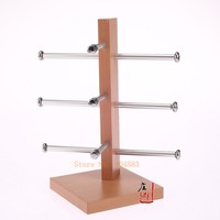 Free Shipping 3 Layer Wood Spectacles Glasses Display Stand