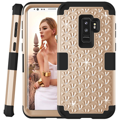 Heavy Duty Hybrid Case For Samsung Galaxy S9 S9Plus Shockproof Armor Rugged Case Cover Hard PC + Soft Rubber Silicone Phone Case (30)