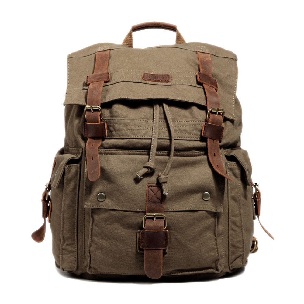 Women Men S Travel Backpack Military Rucksack Canvas