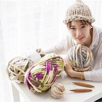 500g/ball Colorful Thick Icelandic Yarn 100% Acrylic for Hand Knitting Crochet Coarse Yarn for DIY Cushion Hat XA007
