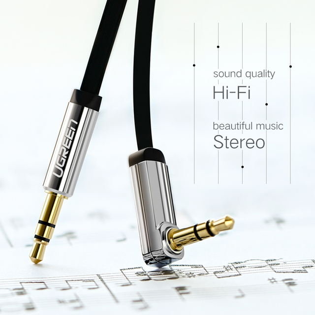 Ugreen AUX Cable Jack 3.5mm Audio Cable 3.5 mm Jack Speaker Cable for JBL Headphones Car Xiaomi redmi 5 plus Oneplus 5t AUX Cord 3