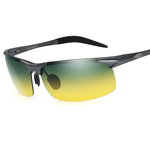 CURTA 2018 De Alumínio e magnésio polarizada óculos de sol dia e noite tons  dos homens 8ba4c24756