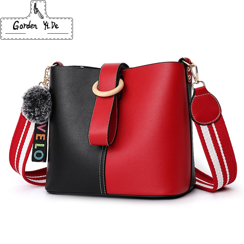 Gorden Yi De Brand pu Leather Handbags Totes for Women 2018 New Fashion Woman Bags Shoulder Bag Casual Large Capacity Bucket Bag