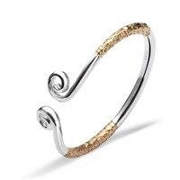 HERMOSA sieraden Zon Wukong Strakke spells Stempel plating Goud 925 Zilver groothandel verstelbare BANGLE MANCHET SZ000193