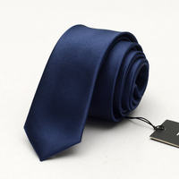 5cm Solid Blue Neck Tie Slim Narrow Casual Dot Party Club Salon Pub for Men Women Groom Waiter Waitress Interview with Gift Box