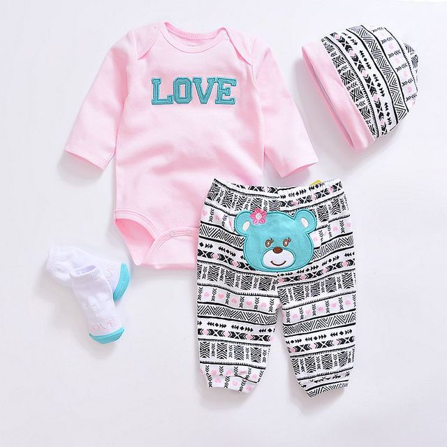 6fc1f8401 2019 conjuntos de ropa de bebé de moda de algodón Linda ropa de bebé niño  recién nacido traje ...