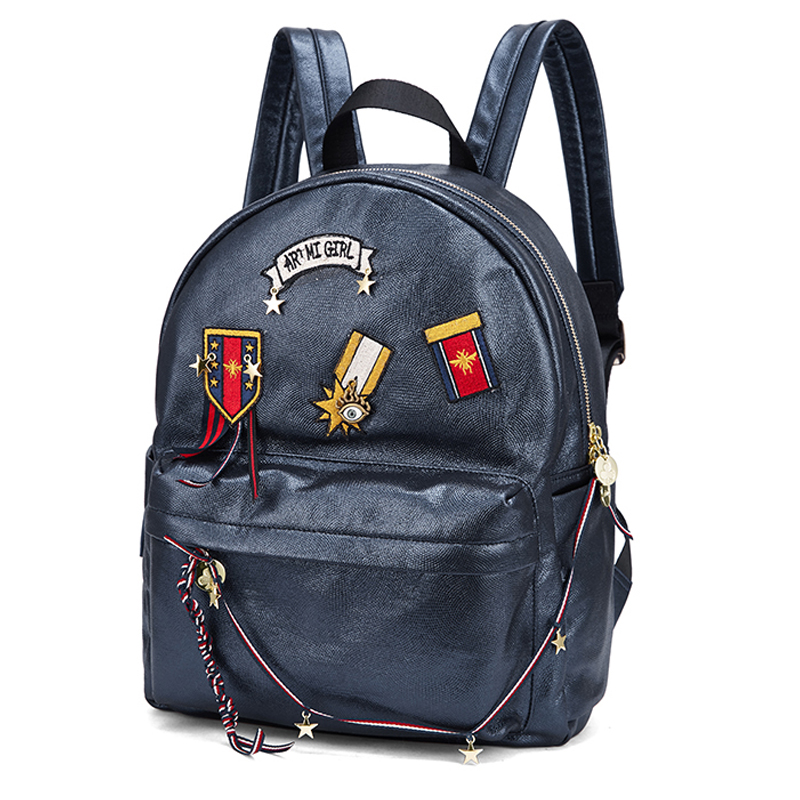 Women Embroidery Backpack Preppy Girl Schoolbag Student Bag Female Travel Bag Totes Braccialini Style Handicraft Cartoon MedalWomen Embroidery Backpack Preppy Girl Schoolbag Student Bag Female Travel Bag Totes Braccialini Style Handicraft Cartoon Medal