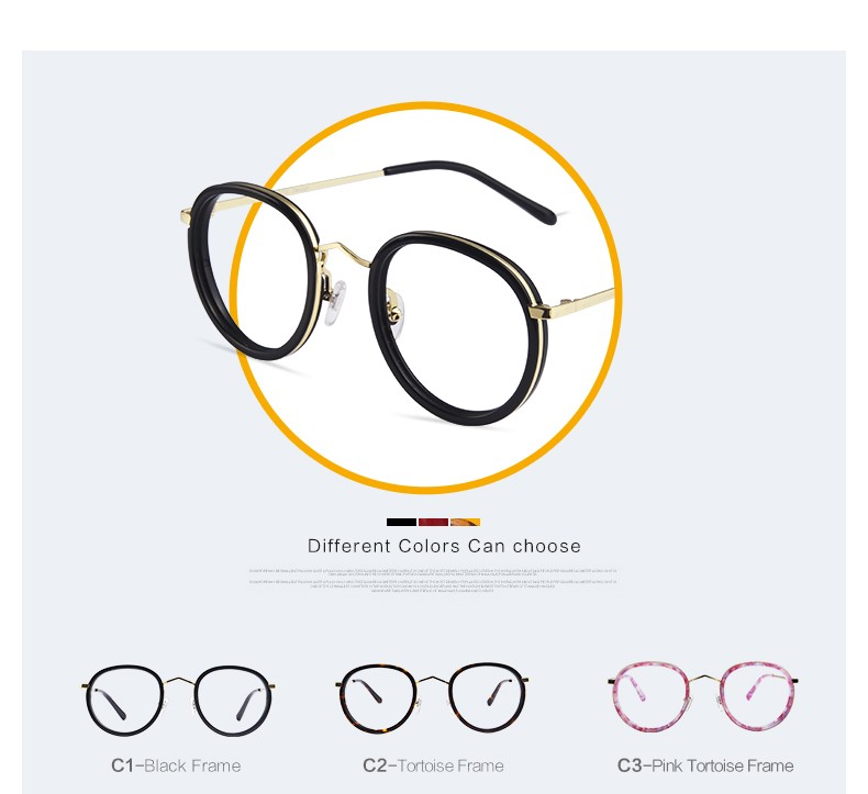 3a18218b28d VEGOOS new design metal retro round frame women eyeglasses optical ...