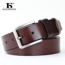 Men High quality genuine leather belt 4cm male formal style cowboy designer belts metal pin buckle vintage cinto masculino LJ037