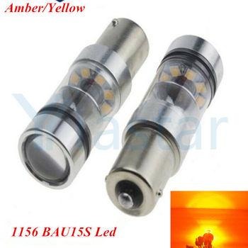 10X Amber LED 100W BAU15S 7507 PY21W 1156PY LED Turn Signals Backup Tail Light
