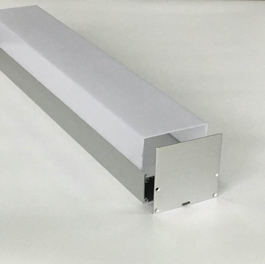 Free Shipping Big Size suspending LED Aluminum Profile channel with PC cover and suspended cable  1.8m/pcs  10pcs/lot|LED Bar Lights| |  - title=