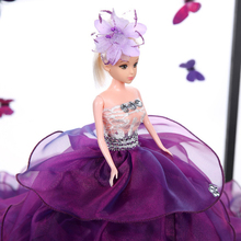 45CM Wedding Dress Doll Top Grade Toys Moveable Joint Body Princess Dolls Birthday Present For Girls Gift For Children 21