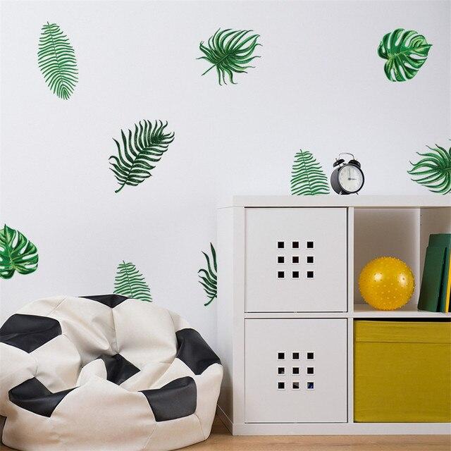 Adhesivos de pared creativos móviles con decoración de pared, decoración de ventanas, adhesivos de pared de verano Hawaii, vinilos decorativos para paredes