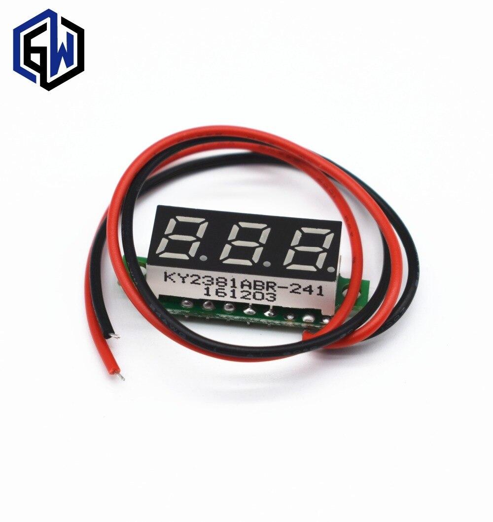 028 Inch 25v 30v Mini Digital Voltmeter Voltage Tester Meter Led Cr7 Green 40v Red Blue