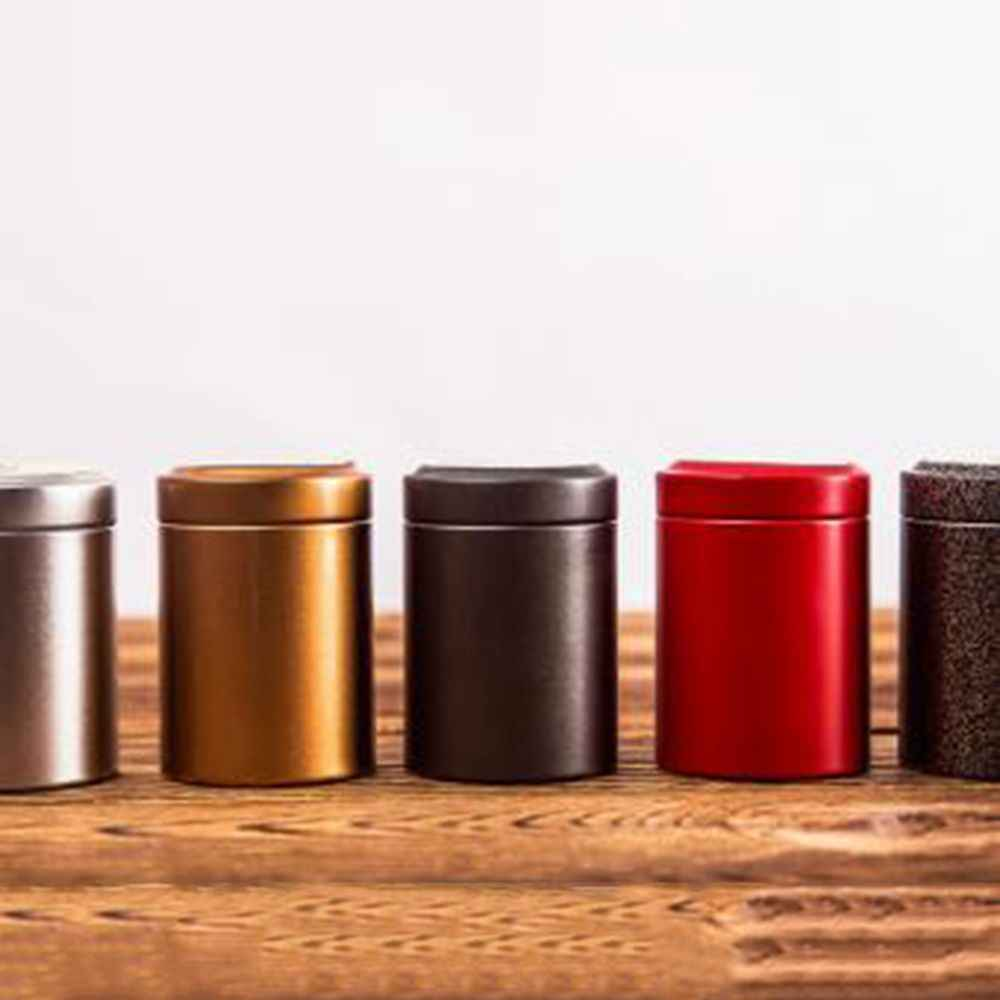 Mini Tin Storage Box Round Shaped Sealed Jar Cans Coffee Tea Candy Tea Iron Box Tinplate Container for Gift Home Decor New