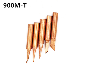Image 5 - 15 أنواع 10 قطعة/الوحدة النحاس النقي لحام الحديد نصائح عدة 900M T سلسلة لحام خالية من الرصاص رئيس لحام أداة محطة إعادة العمل