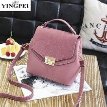 YINGPEI Famoso diseñador de la marca mujeres de los bolsos bolsos de cuero Del Bolso de Hombro Sólido mini bolsas Mujer Messenger Bag bolsos Flap bolsos