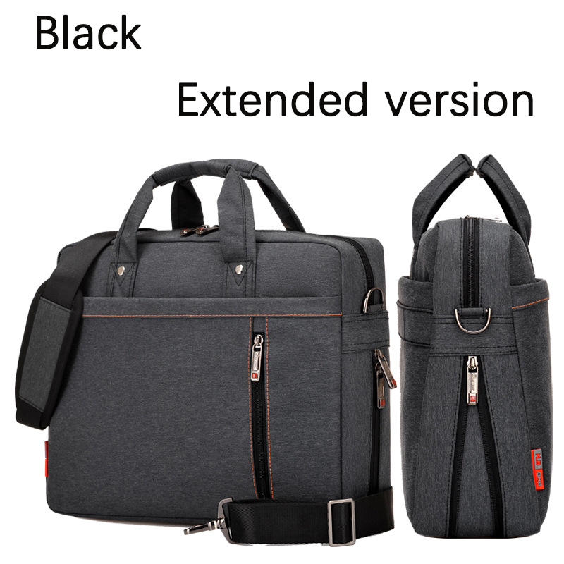 Extend Version Waterproof Laptop Bag 17.3 17 15.6 14 13 Inch Shockproof Airbag Protection Computer Bag Men Women Shoulder Bag