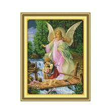 Joy sunday angel эскорт Китай 11ct 14ct Набор для вышивки крестом