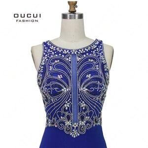 Image 3 - Robe sirène diamant De luxe, robe De soirée Vintage élégante, bleu Royal, Scoop, style sirène, collection 2019, OL103168