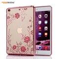 Для MINI2 MINI3 Diamond Secret Garden Flower для iPad MINI 2 3 Гальванических Кадров Прозрачные Мягкие ТПУ Tablet Case CL973