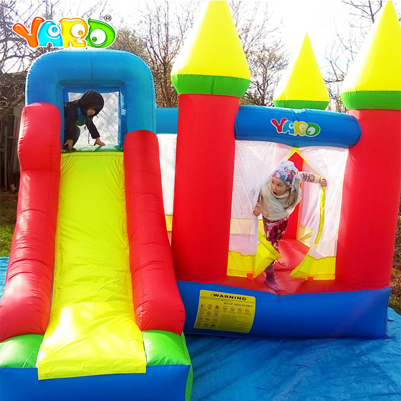 YARD Bouncy castle Inflatable Jumping Castles trampoline for chIldren 3.5*3*2.7m House Inflatable Bouncer With Slide Blower yard inflatable jumper bouncy castle nylon bounce house jumping house trampoline bouncer with free blower for kids