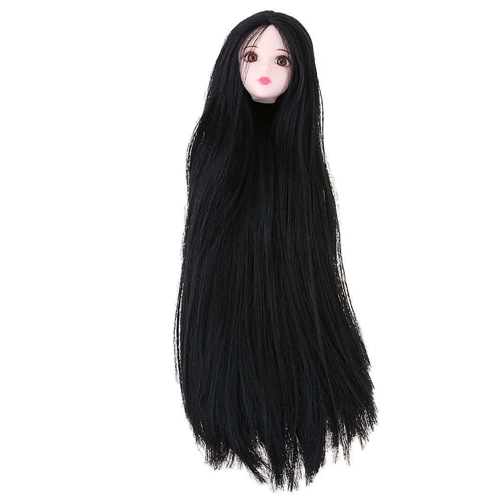 we have bodies for them also 1//6th Scale Black Hair Replacement Head