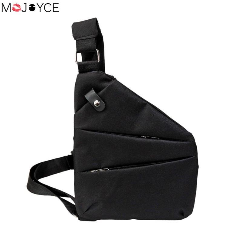 Anti-Theft Men's Messenger Bag Shoulder bolsa Men Chest Pack Men Casual Crossbody Bag Canvas Cool Motorcycle Sling Bag masculina