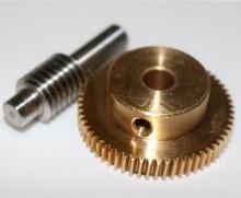 2set/lot   0.5M-40T Gear Diameter:21.2mm  Hole:5mm  Rod L:33MM  Stainless Steel Worm Gear цены