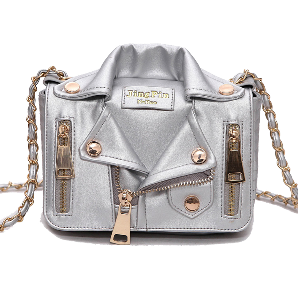 New European Brand Designer Bag Chain Motorcycle Shoulder Rivet Jacket Bags Messenger Bag Women Leather Handbags for Cool Girls women floral leather shoulder bag new 2017 girls clutch shoulder bags women satchel handbag women bolsa messenger bag