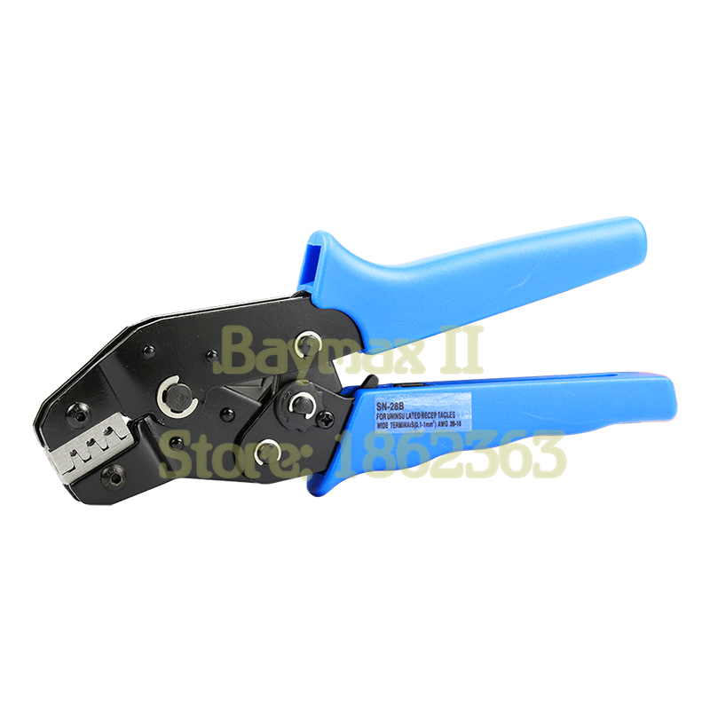 SN-28B Pin Crimping Tool 2.54mm 3.96mm 28-18awg 0.1-1.0mm2 for Dupont Terminals with Wire-electrode Cutting Die Sets sn 01bm ph2 0 xh2 54 dupont sm plug terminal crimping tool crimping pliers for d sub terminals sq mm 0 08 0 5 awg28 20