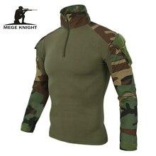 Mege 12 камуфляж цвета нам армейская Униформа Военная рубашка брюки-карго Мультикам Airsoft Пейнтбол Тактические ткань с Налокотники