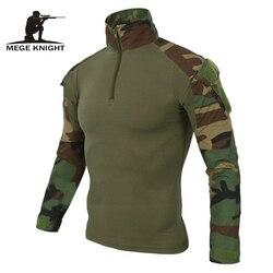 Mege 12 cores de camuflagem do exército dos eua uniforme combate militar camisa carga multicam airsoft paintball pano tático com almofadas cotovelo