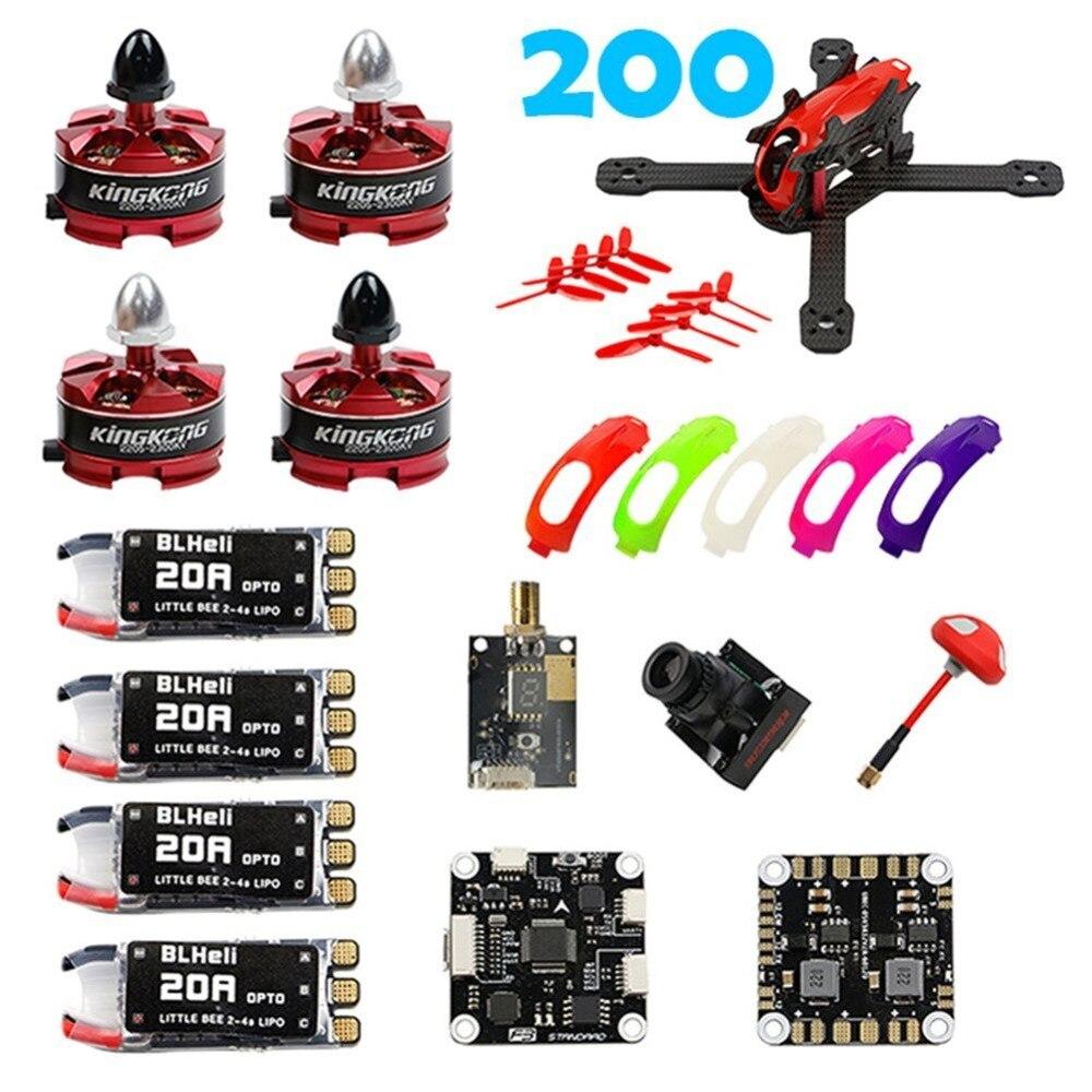 RAMMUS 200 FPV PNP Kit : RAMMUS Frame + 2205 2300KV Motor+ F3 PLUS + 700TVL Camera + 20A ESC + 5.8G VTX + Props F19959