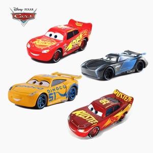 Image 1 - Новинка Disney Pixar седан 2/3 Молния Маккуин гонки Джексон шторм Рамирес 1:55 литой металлический сплав детская Игрушечная машина подарок