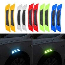Warning-Light-Reflector Strip-Stickers Reflective Safety Eyebrow Carbon Car-Wheel-Rim