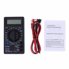DT832 Digital Multimeter Mini Multimeter LCD Tester DC AC Voltmeter Ammeter Ohm Meter Auto Polarity Display