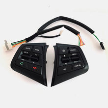цена на Steering Wheel For Hyundai ix25 creta 2.0 1.6 Buttons Bluetooth Phone Cruise Control Remote Control button left music button