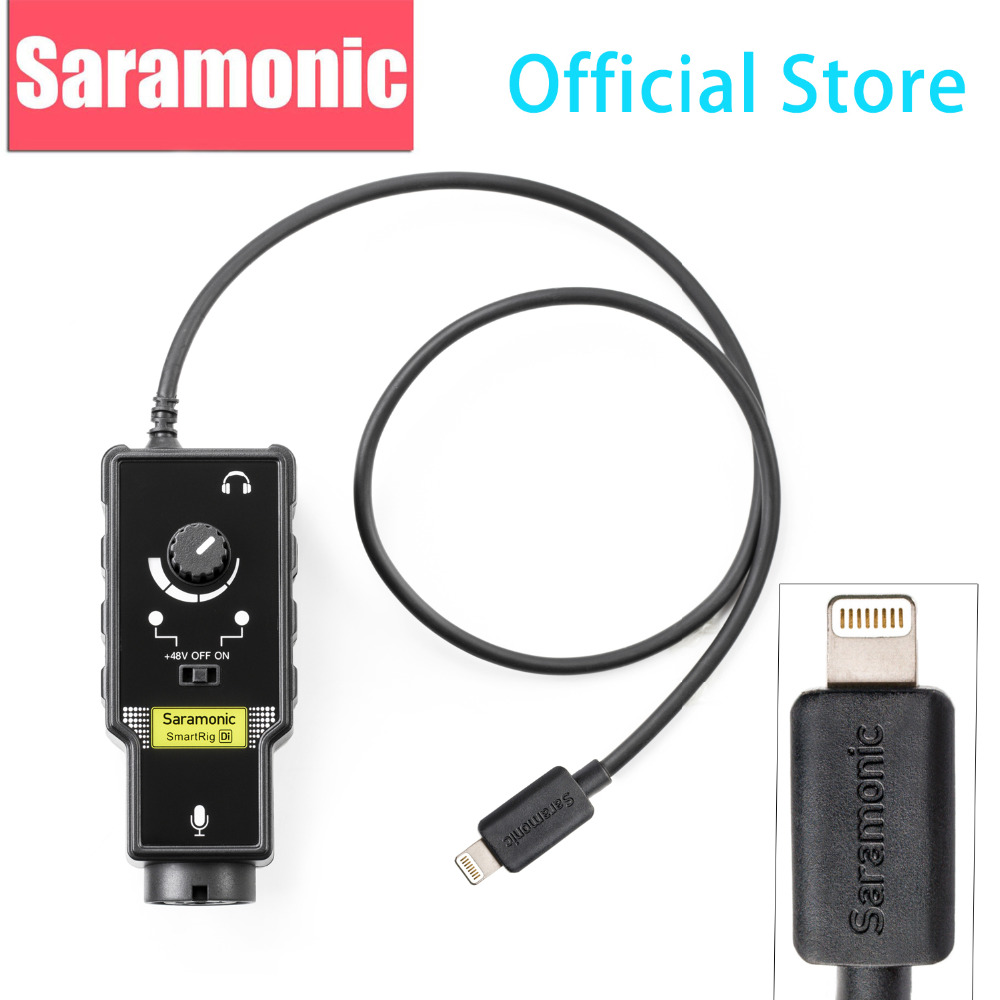 ᐂnew Saramonic Smartrig Di Xlr Microphone 6 3mm Guitar Interface With Ios Mfi Certified Lightning Input For Iphone X 8 7 7s A510