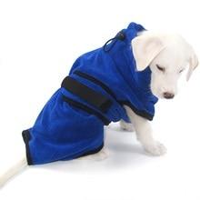 Pet Towel Dog Bathrobe Super Absorbent Drying Microfiber Bath Towels Quick-Drying Cat Cloak