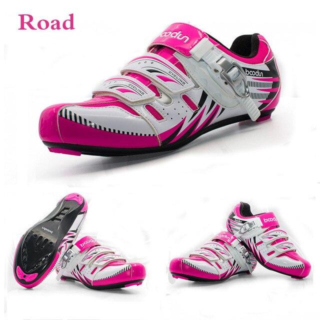 Boondun Mountain Road Cycling Shoes Women Professional Bike Bicycle Racing Shoes  Self-Locking Breathable MTB bdadc7247