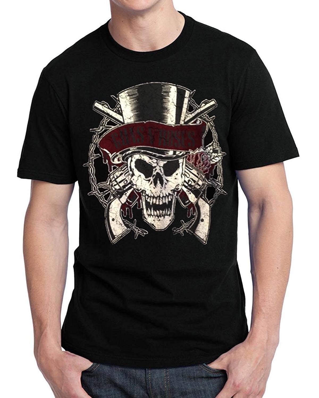 fashion men 39 s t shirt guns n roses slash skull t shirt printed t shirt men casual shirt in t. Black Bedroom Furniture Sets. Home Design Ideas